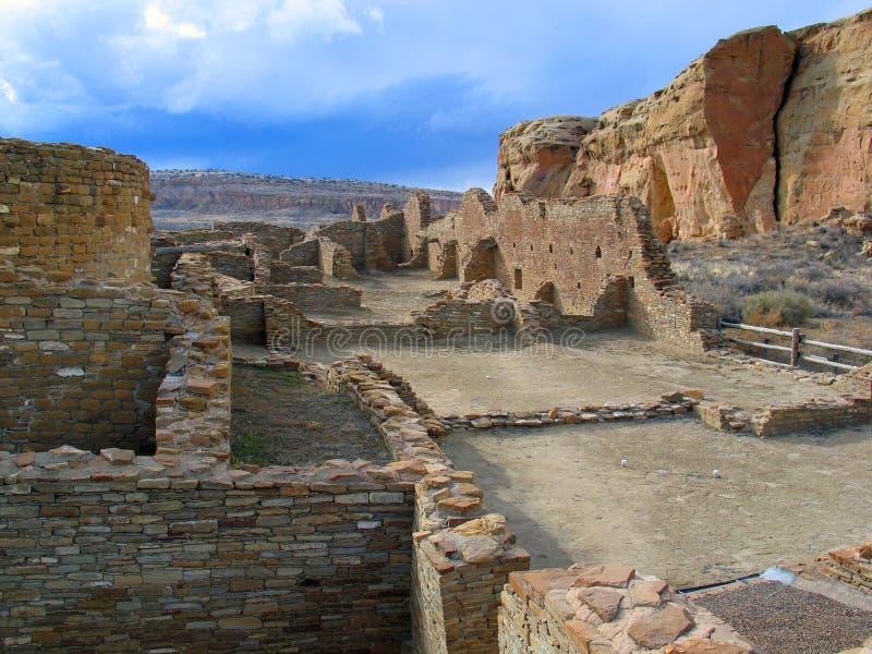 Het Nationale Historische Park van de Chacocanion stock afbeeldingen