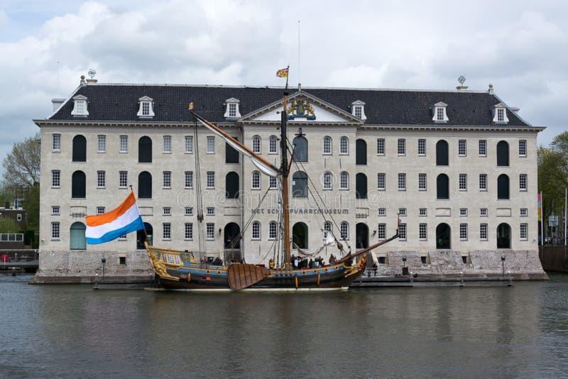 Het Nationale Maritieme Museum van Amsterdam royalty-vrije stock foto's