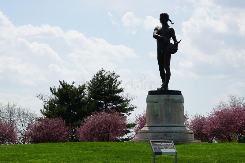 Het Nationale Monument van fortmchenry en Historisch Heiligdom in Baltimore, Maryland stock foto