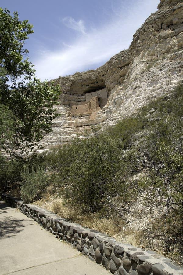 Het Nationale Monument van het Kasteel van Montezuma stock afbeeldingen