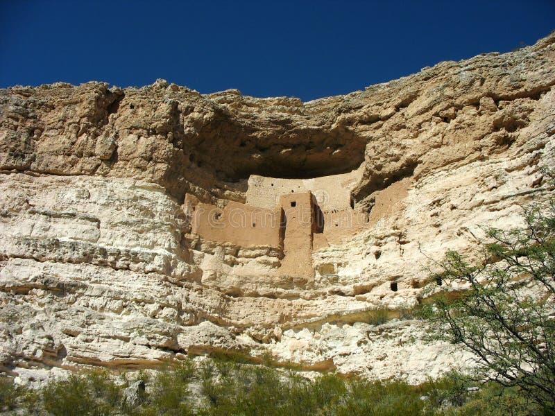 Het Nationale Monument van het Montezumakasteel in Arizona royalty-vrije stock afbeelding