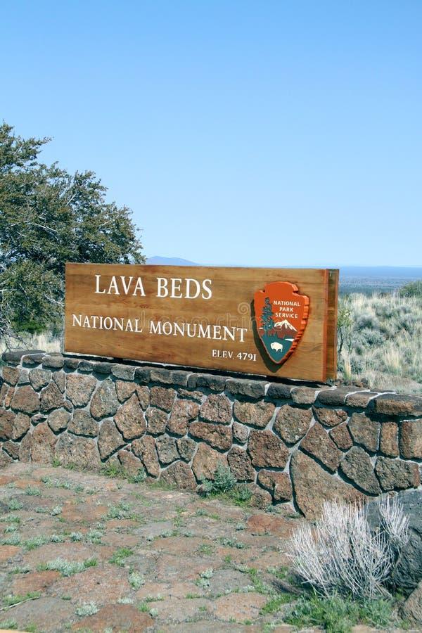 Het nationale monument van lavabedden royalty-vrije stock foto's
