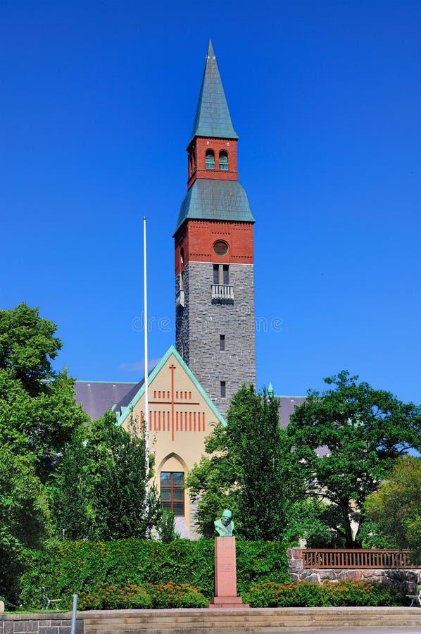 Het nationale Museum in Helsinki, Finland stock foto