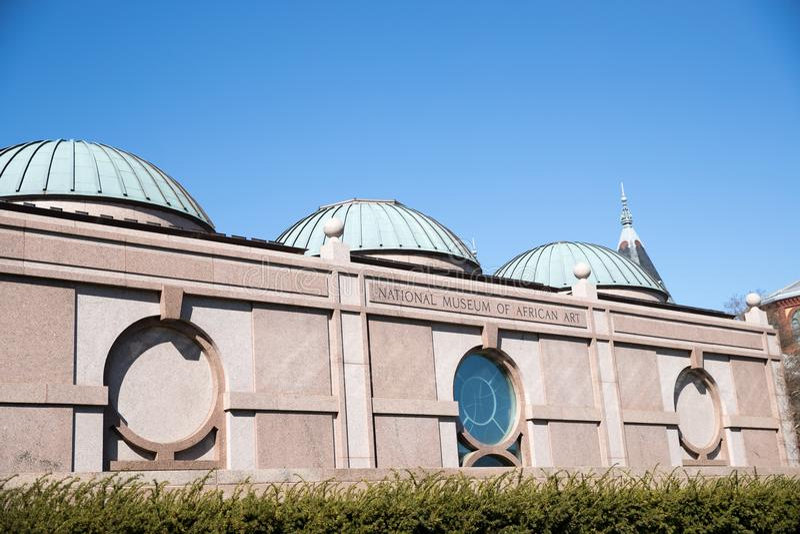 Het nationale Museum van Afrikaanse Kunst is een Afrikaans die kunstmuseum in Washington, D C , Verenigde Staten wordt gevestigd stock foto