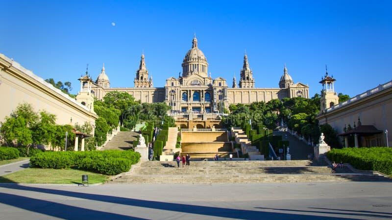 Het nationale Museum van de Kunst van Catalonië Barcelona stock afbeeldingen