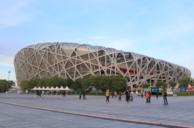 Het nationale nest Peking China van stadionbird's royalty-vrije stock afbeeldingen