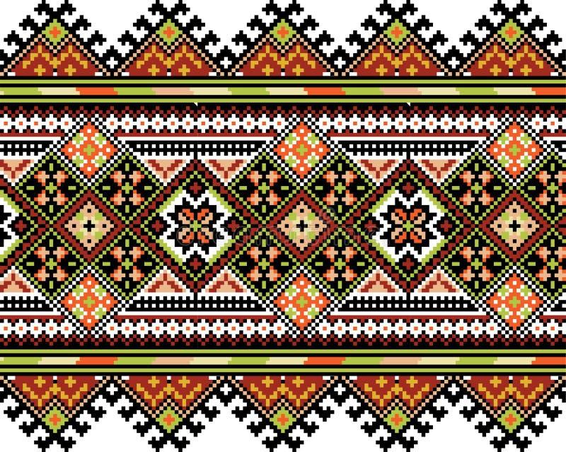 Het nationale ornament van Ucrainian vector illustratie