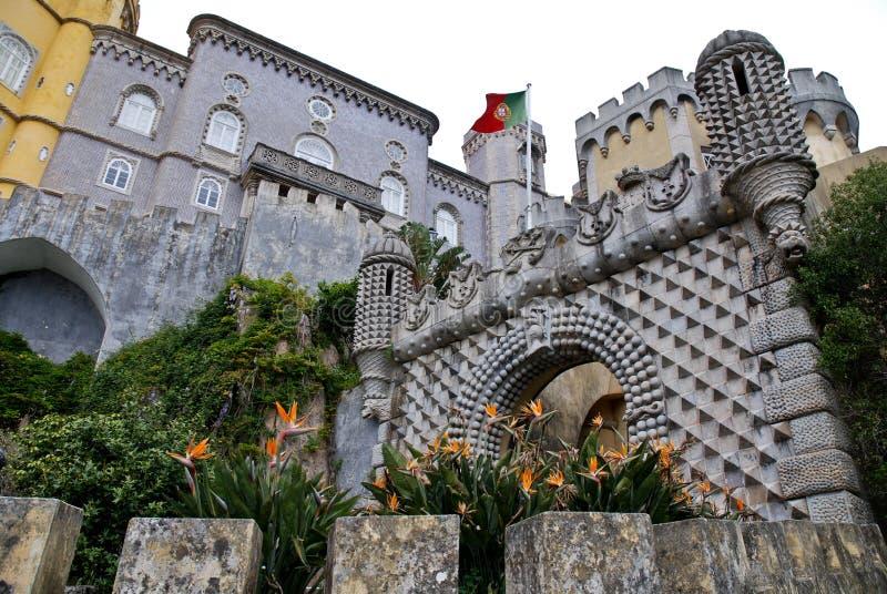 Het Nationale Paleis van Pena in Sintra stock afbeeldingen