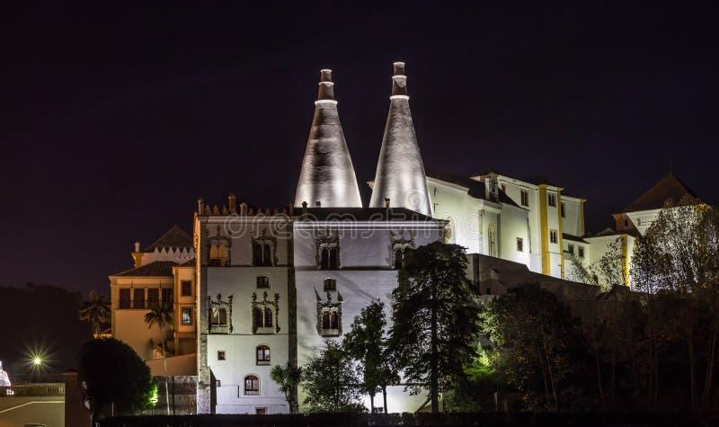 Het Nationale Paleis van Sintra royalty-vrije stock foto's