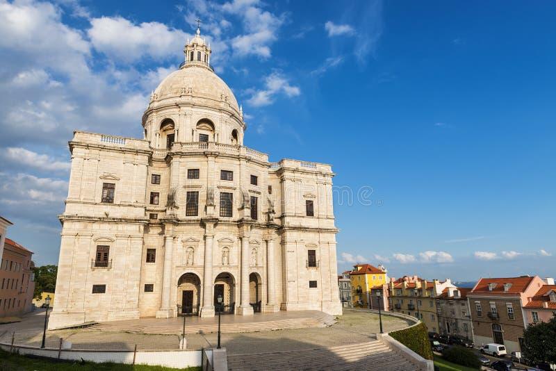 Het Nationale Pantheon in Lissabon stock foto's