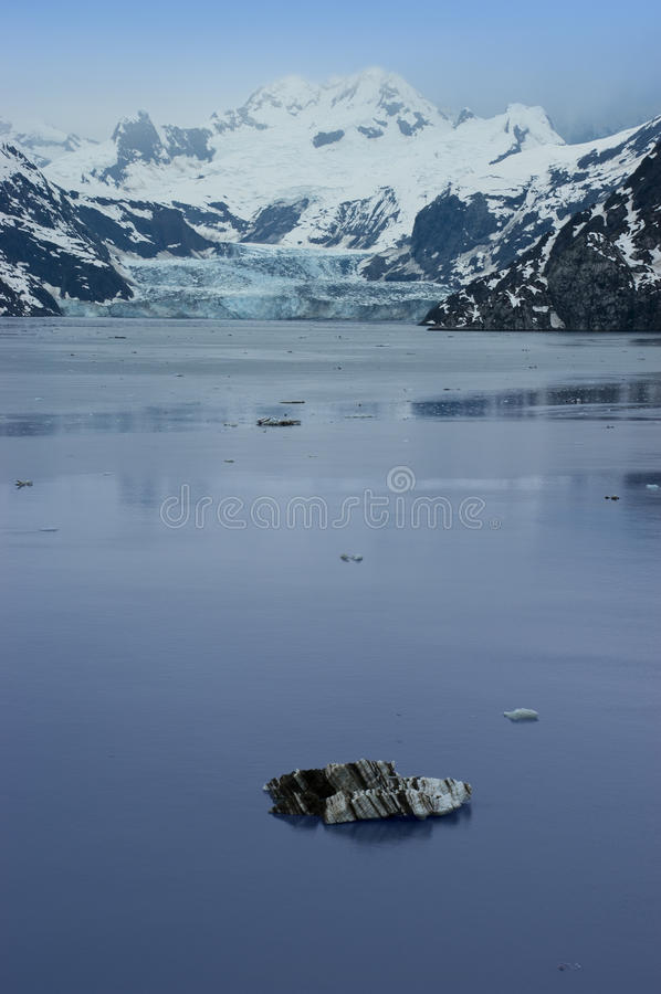 Het Nationale Park Alaska van de Baai van de gletsjer binnen Passage stock foto