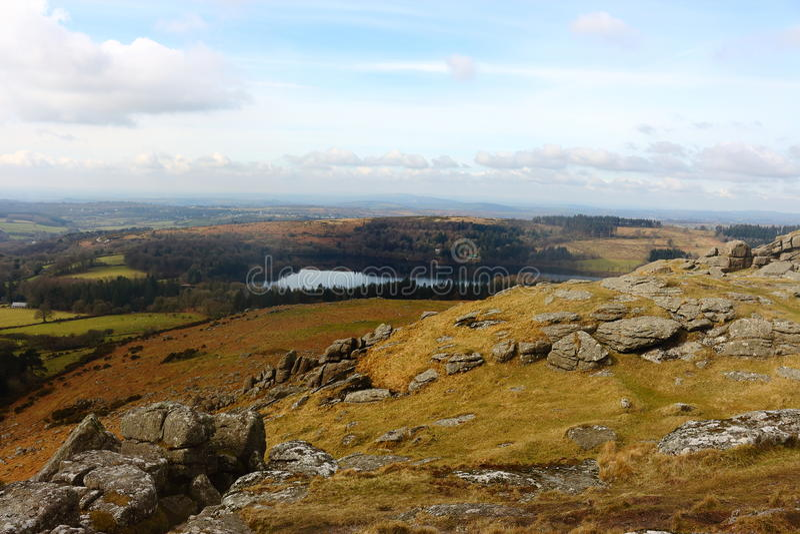 Het Nationale Park Devon het UK van Dartmoor van Sheepstorrotsen royalty-vrije stock afbeeldingen