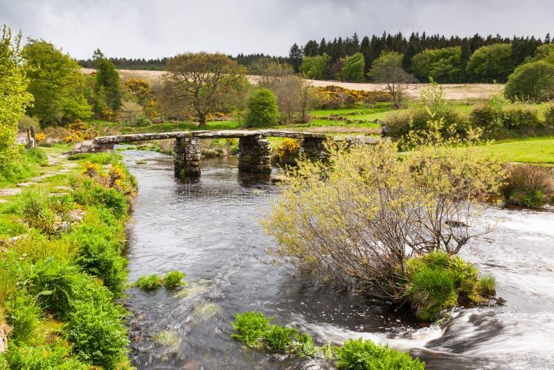 Het Nationale Park Devon van Postbridgedartmoor stock foto's