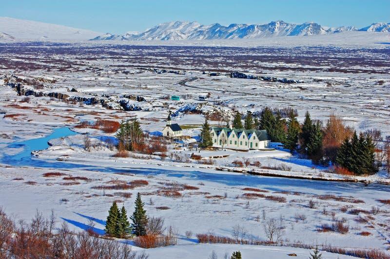 Het Nationale Park IJsland van Thingvellir stock afbeeldingen