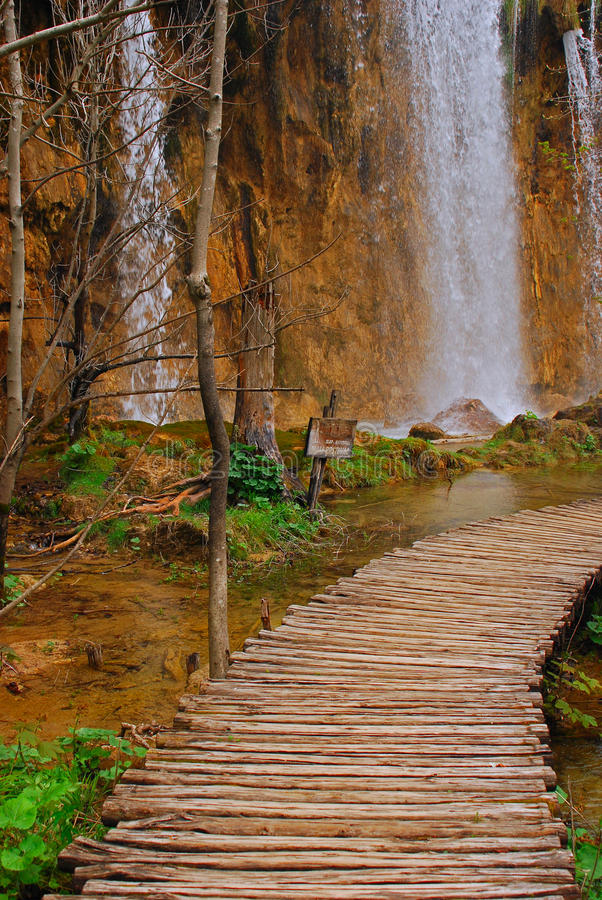 Het Nationale Park Kroatië van de Meren van Plitvice stock afbeeldingen