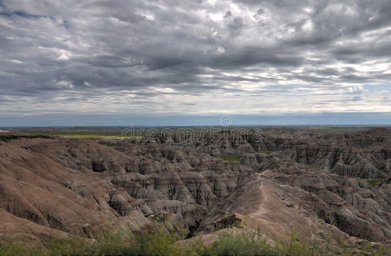 Het Nationale Park van Badlands in Zuid-Dakota royalty-vrije stock foto's