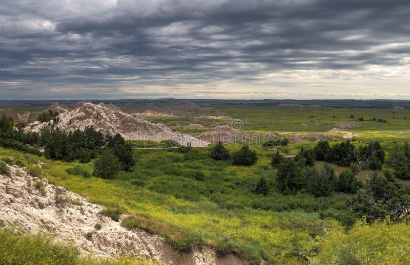 Het Nationale Park van Badlands in Zuid-Dakota stock afbeeldingen