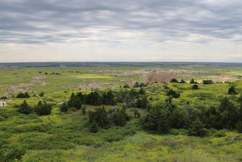 Het Nationale Park van Badlands in Zuid-Dakota royalty-vrije stock foto
