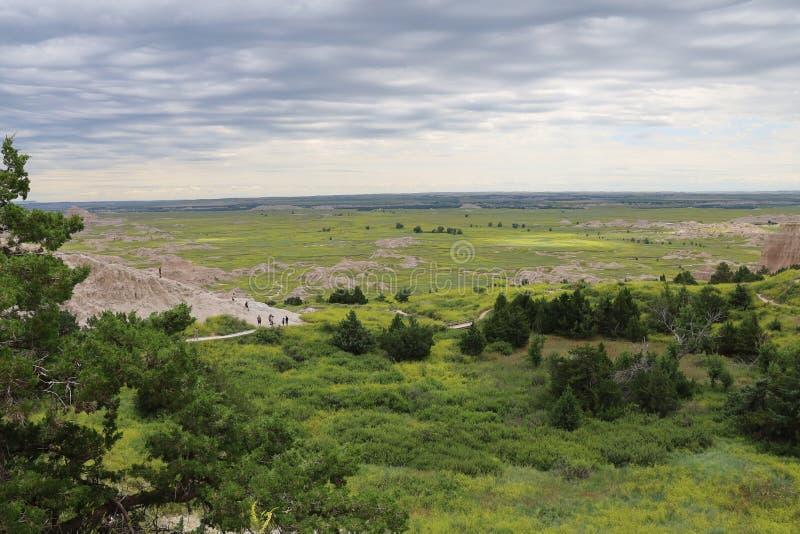 Het Nationale Park van Badlands in Zuid-Dakota stock foto