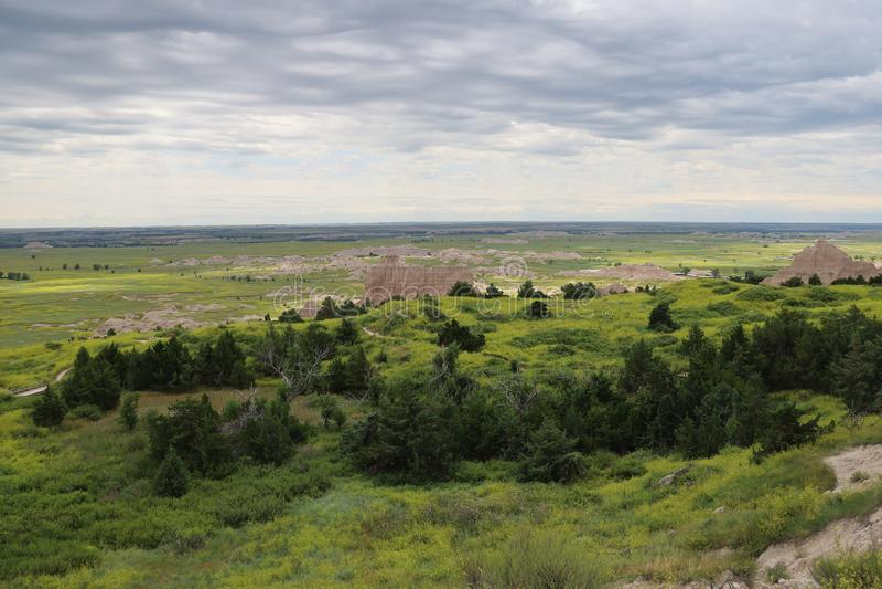 Het Nationale Park van Badlands in Zuid-Dakota stock foto's