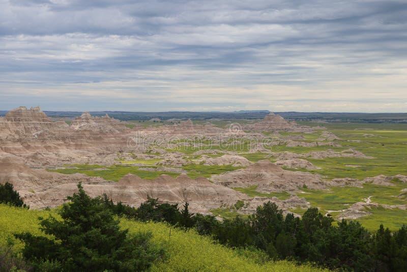 Het Nationale Park van Badlands in Zuid-Dakota royalty-vrije stock afbeelding