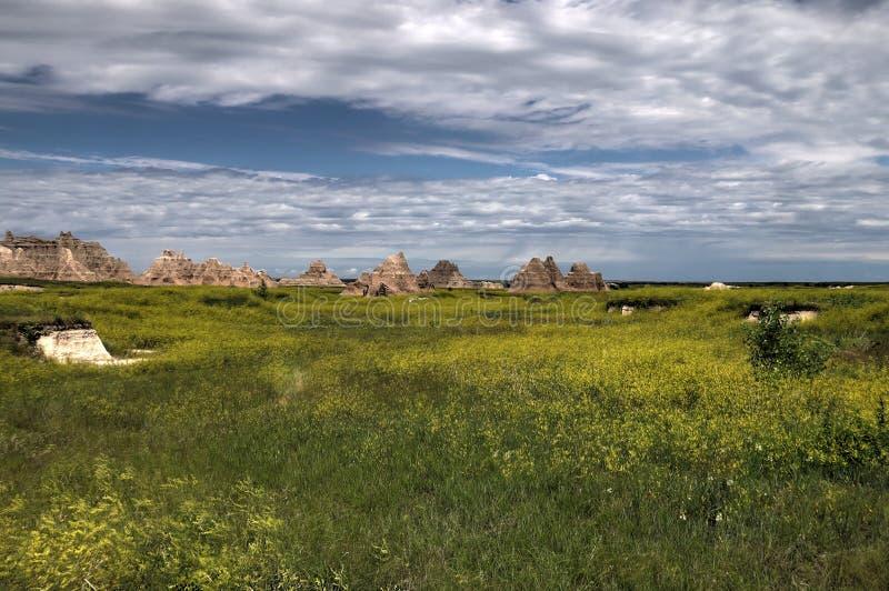 Het Nationale Park van Badlands in Zuid-Dakota stock fotografie