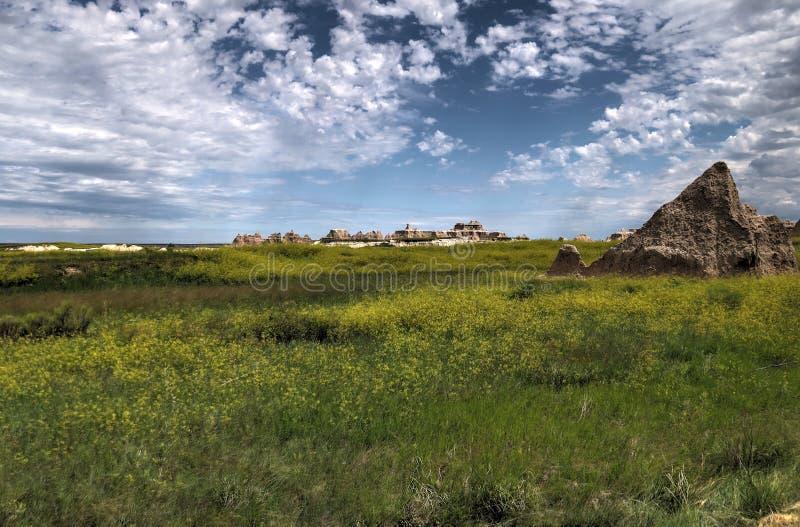 Het Nationale Park van Badlands in Zuid-Dakota royalty-vrije stock fotografie