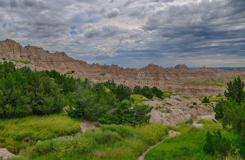 Het Nationale Park van Badlands in Zuid-Dakota royalty-vrije stock afbeeldingen