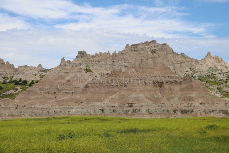 Het Nationale Park van Badlands in Zuid-Dakota stock afbeelding