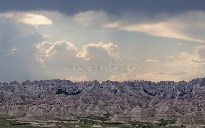 Het Nationale Park van Badlands, Zuid-Dakota stock foto's