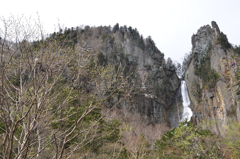 Het Nationale Park van Daisetsuzan van de Gingawaterval royalty-vrije stock foto