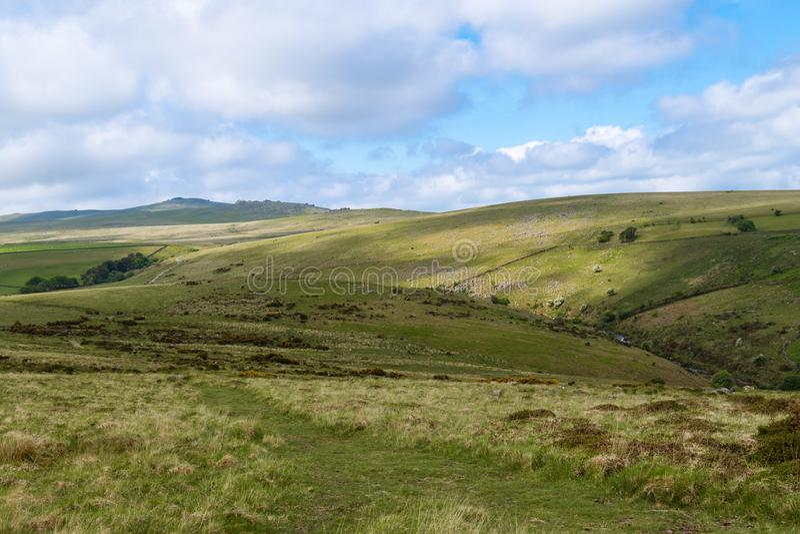 Het Nationale Park van Dartmoor stock afbeeldingen