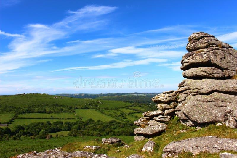 Het Nationale Park van Dartmoor stock foto's