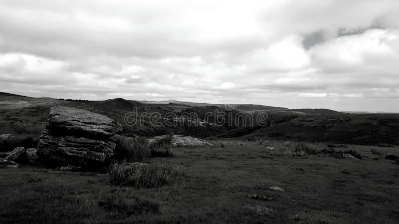 Het Nationale Park van Dartmoor Devon, het UK royalty-vrije stock afbeelding