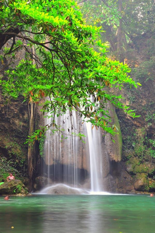 Download Het Nationale Park Van De Erawanwaterval Stock Foto - Afbeelding bestaande uit kreek, gebladerte: 39117586