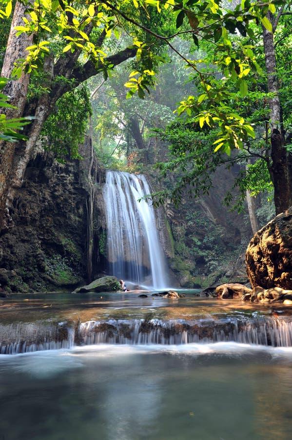 Download Het Nationale Park Van De Erawanwaterval Stock Afbeelding - Afbeelding bestaande uit clean, exotisch: 39117829