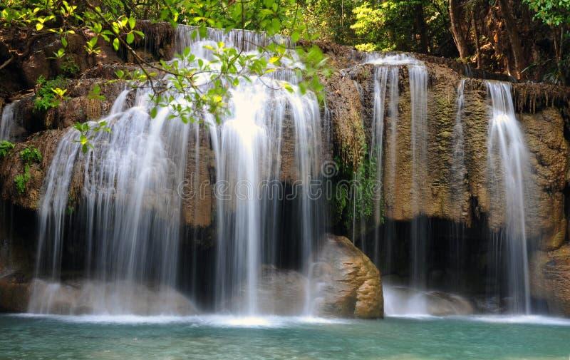 Download Het Nationale Park Van De Erawanwaterval Stock Foto - Afbeelding bestaande uit rivier, hemel: 39117832