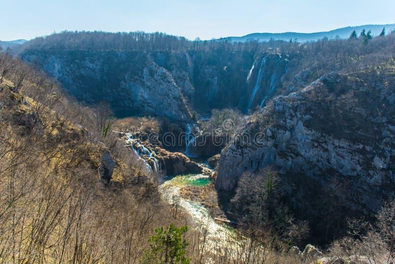 Het Nationale Park van de Meren van Plitvice, Kroati? stock foto