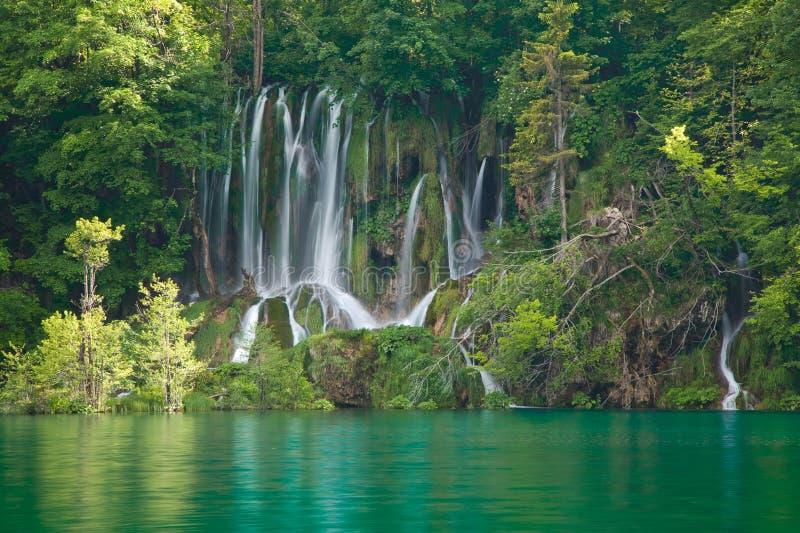 Het Nationale Park van de Meren van Plitvice stock afbeelding