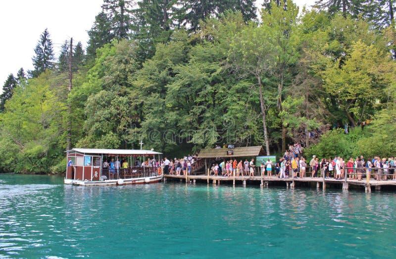 Het Nationale Park van de Meren van Plitvice in Kroatië stock foto