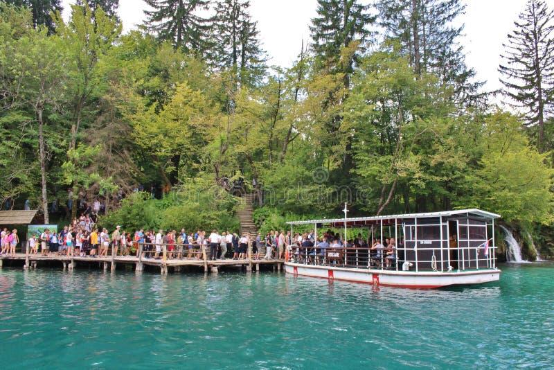 Het Nationale Park van de Meren van Plitvice in Kroatië royalty-vrije stock afbeelding