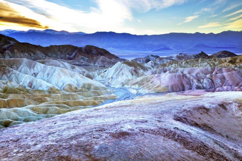Het Nationale Park van de Vallei van de Dood van het Punt van Zabruski stock afbeelding