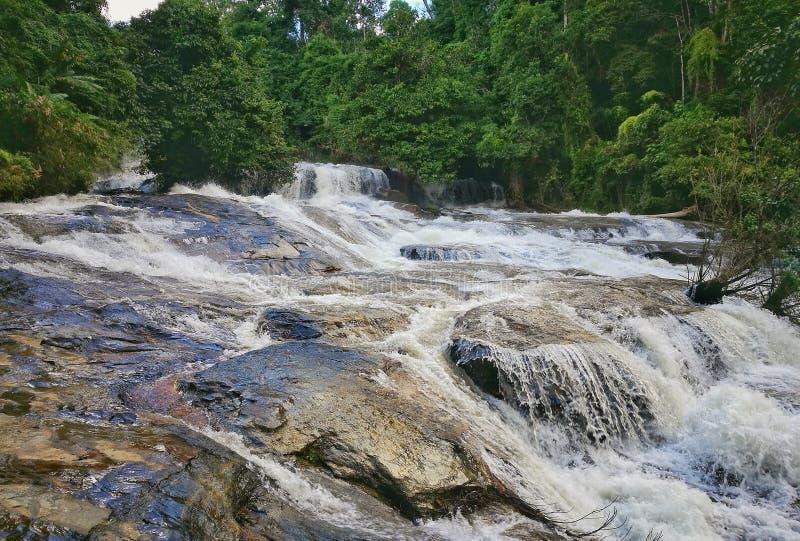 Het Nationale Park van Doi Inthanon van de Wachirathanwaterval, Chiang Mai stock foto's