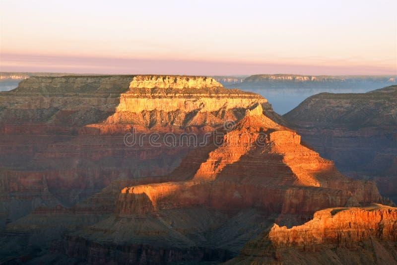 Het Nationale Park van Grand Canyon in Dawn stock foto's