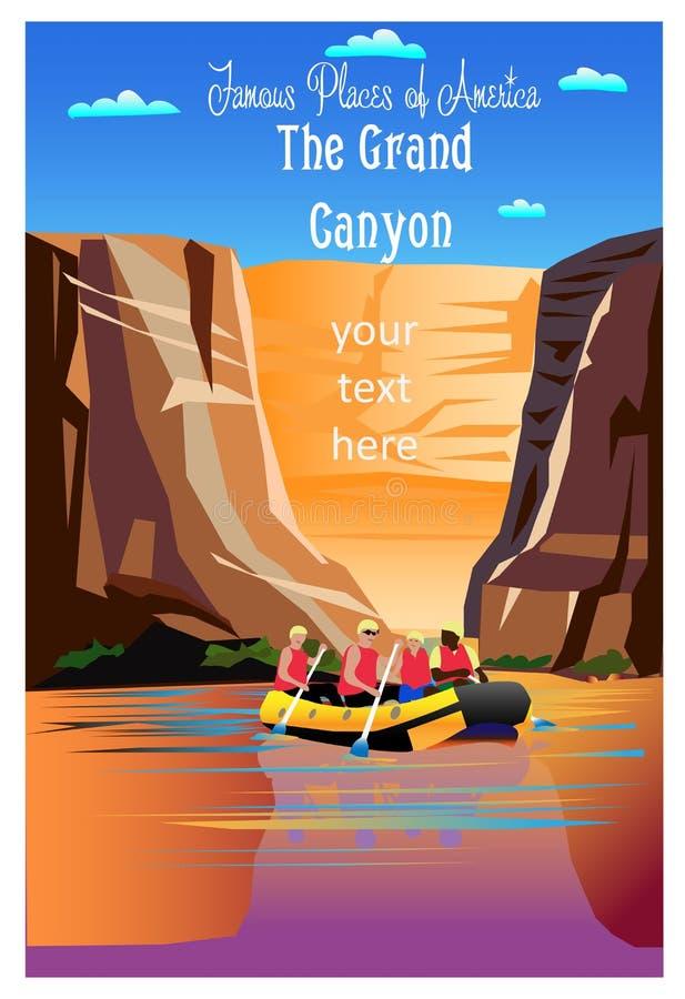 Het Nationale Park van Grand Canyon vector illustratie