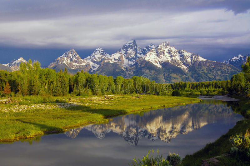 Het Nationale Park van Grand Teton stock fotografie