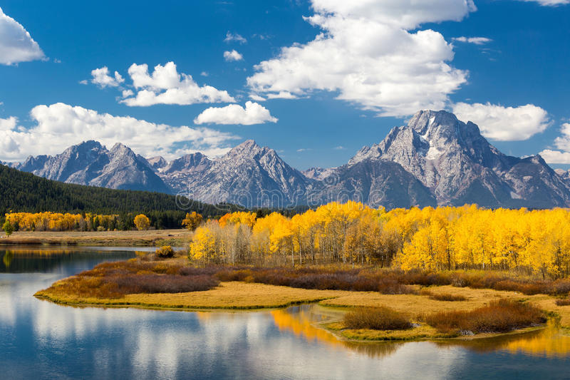 Het Nationale Park van Grand Teton in de herfst stock fotografie