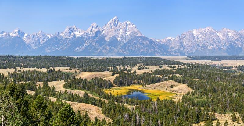 Het Nationale Park van Grand Teton, WY stock foto's
