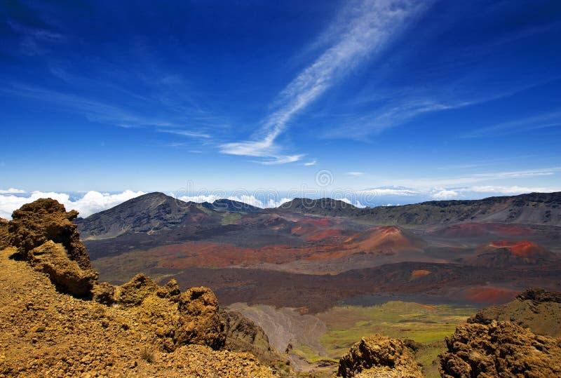 Het Nationale Park van Haleakala, Maui, Hawaï stock afbeelding