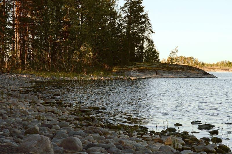 Het nationale Park van Ladoga skerries in Karelië royalty-vrije stock foto